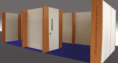 Classical Trading - Slatwall Exhibition Stand